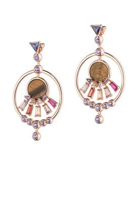 Rose Gold Europa Hoops by Eddie Borgo