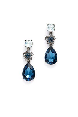 Floral Midnight Drop Earrings by Oscar de la Renta