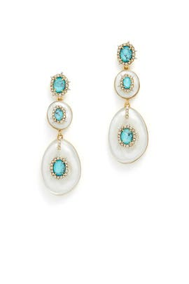 Crystal and Turquoise Drop Earrings by Alexis Bittar