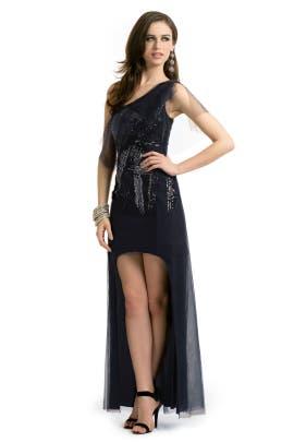BCBGMAXAZRIA - Malia Tulle Sequin Gown