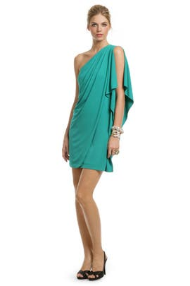 Teal Draped Dream Dress by Mark & James by Badgley Mischka