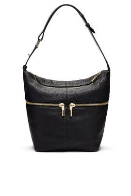 Black James Duffle Hobo by Elizabeth and James Accessories