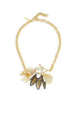 Gold Crystal Floral Necklace by Marni Accessories