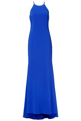 Cobalt Racing Gown by Badgley Mischka