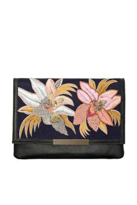 Tahitian Floral Port of Call Clutch by Lizzie Fortunato