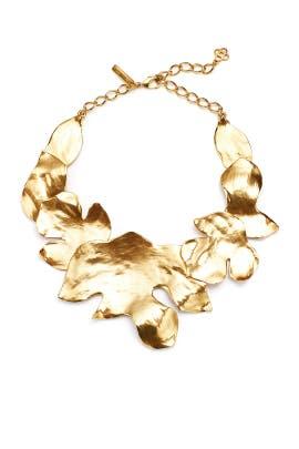 Gold Foliage Necklace by Oscar de la Renta