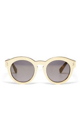 Tortoiseshell Effect Round Sunglasses by Stella McCartney