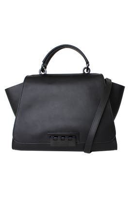 Black Eartha Unlined Soft Top Handle Bag by ZAC Zac Posen Handbags