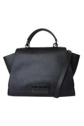 ZAC Zac Posen Handbags Black Eartha Unlined Soft Top Handle Bag