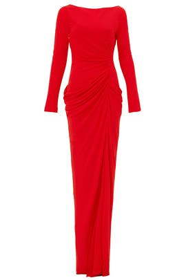Red Forbidden Territory Gown by Badgley Mischka