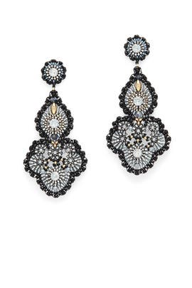 Smoky Onyx Statement Earrings by Miguel Ases