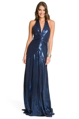 Nicole Miller - Navy Sequin Gown