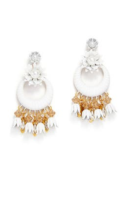 White Gibson Earrings by Elizabeth Cole