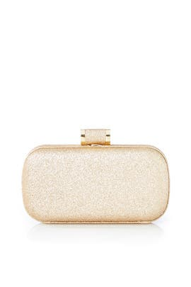 Gold Oblong Minaudiere by Halston Heritage Handbags