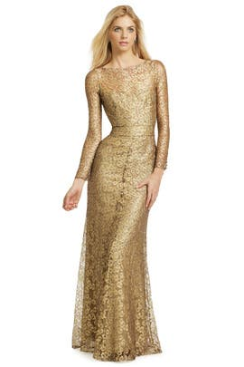Issa - Gold Cassia Gown