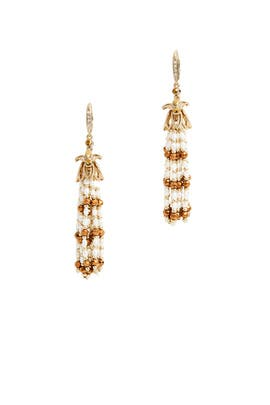 Elegant Pearl Earrings by Jenny Packham