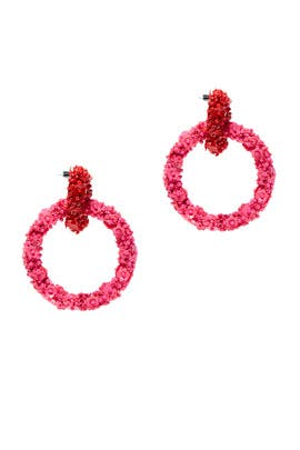 Double Ring Fleur Earrings by Sachin & Babi Accessories