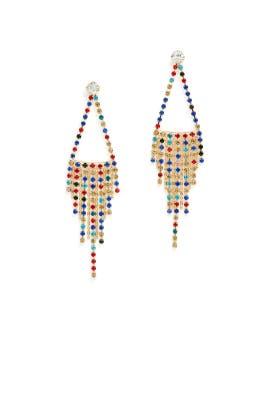 Rainbow Fringe Earrings by Slate & Willow Accessories