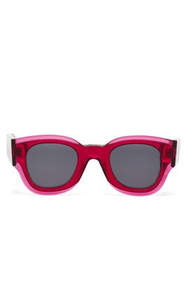 Fuchsia Zoe Sunglasses by Céline