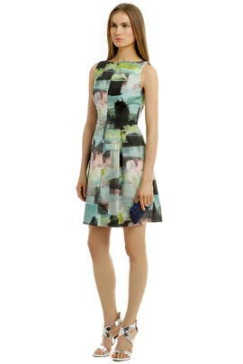 Watercolor Bateau Dress by Lela Rose