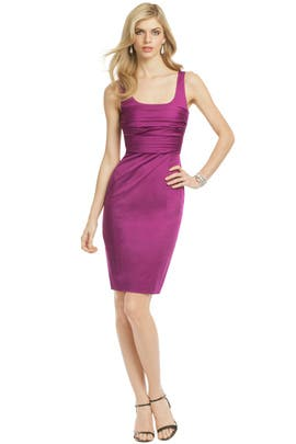 Moschino Cheap And Chic - Plum Rose Bodice Sheath