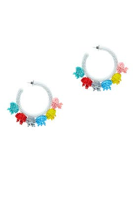 Multicolored Grape Hoops by Sachin & Babi Accessories