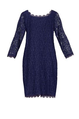 Navy Zarita Sheath by Diane von Furstenberg