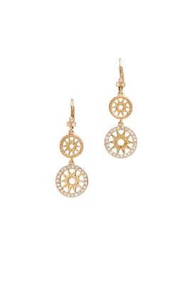 Dainty Detour Earrings by Marchesa Jewelry