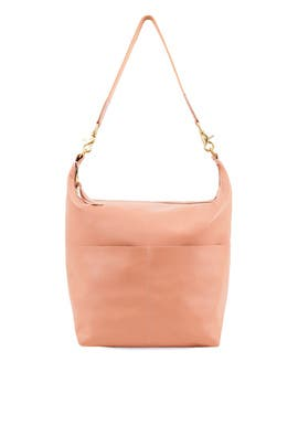 Salmon Sophie Leather Hobo by Clare V.