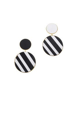 Black Monochrome Earrings by Joanna Laura Constantine