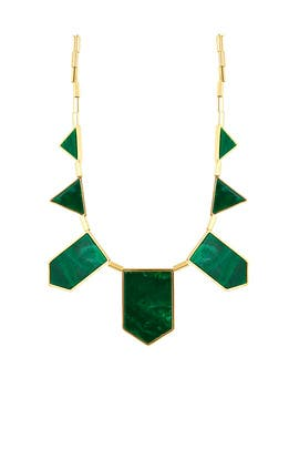 Malachite Station Necklace by House of Harlow 1960