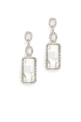 Crystal Baguette Earrings by RJ Graziano