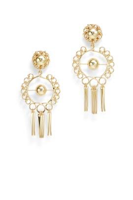 Gold Ash Earrings by Dannijo