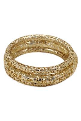 Kendra Scott - Crackled Gold Bangle Set