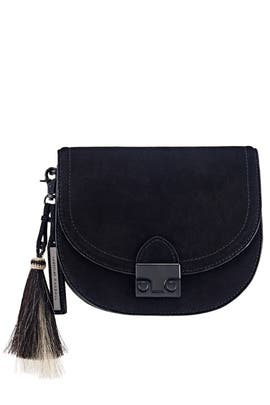 Natural Black Saddle Bag by Loeffler Randall