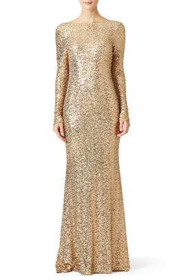 Gold Dara Gown by Badgley Mischka