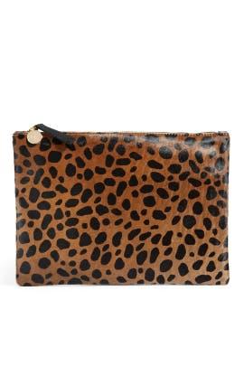 Clare V - Saharan Leopard Clutch