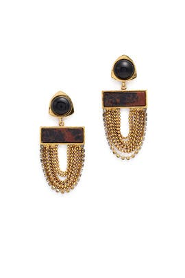 Onyx Sundown Earrings by Lizzie Fortunato