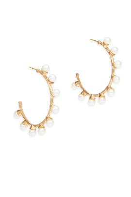Modern Woman Hoop Earrings by RJ Graziano