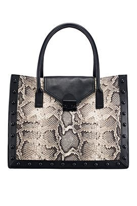 Python East West Work Tote by Loeffler Randall