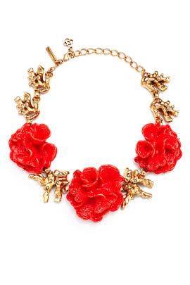 Coral Burst Necklace by Oscar de la Renta