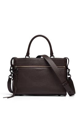 Brown Bedford Zip Satchel by Rebecca Minkoff Accessories