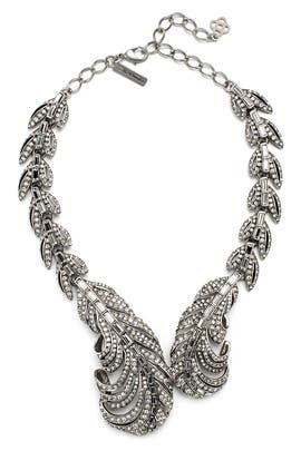 Crystal Feather Necklace by Oscar de la Renta