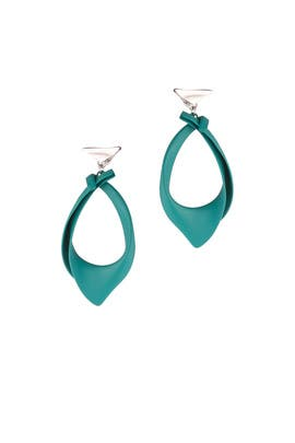 Blue Kerchief Earrings by Eddie Borgo
