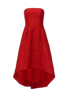 Crimson Rose Gown by ML Monique Lhuillier