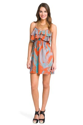 Tibi - Vintage Printed Ruffle Dress