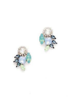 Midnight Emerald Crystal Cluster Studs by Tova
