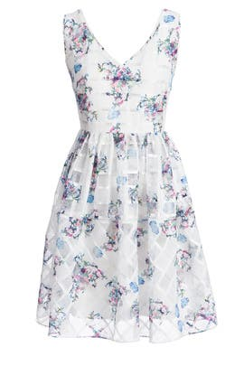 Crossing Florals Dress by ERIN erin fetherston