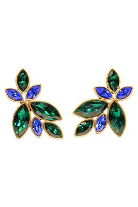 Oscar de la Renta - Cerulean Petal Earrings