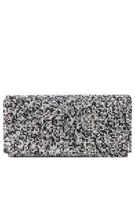 Pewter Multi Foldover Clutch by Sondra Roberts